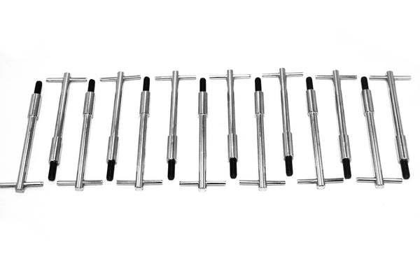 Chrome Valve Cover T Handle Bolts T-Bar 1/4-20