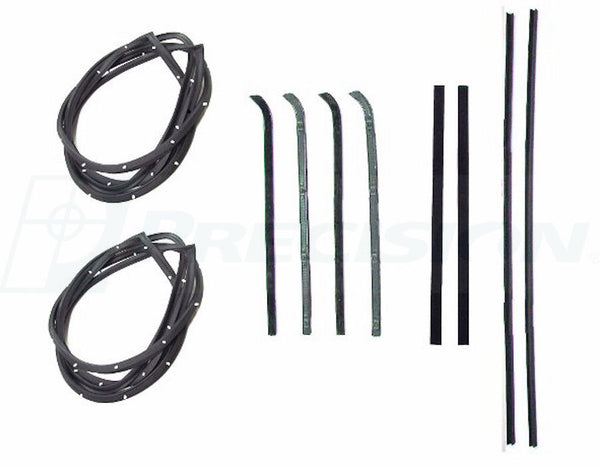 55-59 Chevy Truck Door Gaskets & Beltline Molding Channel Weatherstrip Seal Kit
