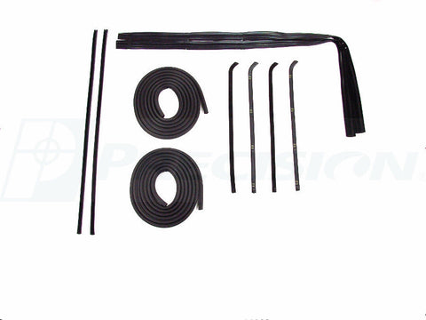 67-72 Chevy Truck Door Gaskets & Beltline Molding Channel Weatherstrip Seal Kit