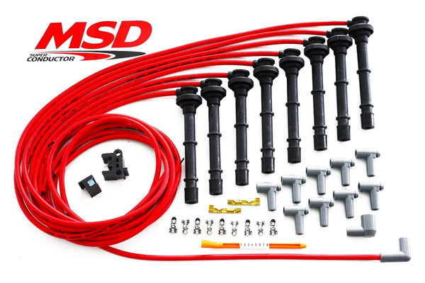 MSD Ford 4.6/5.4L Modular Motor Red Spark Plug Wires