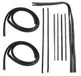 67-72 Chevy Truck Door Gaskets & Chrome Beltline Channel Weatherstrip Seal Kit