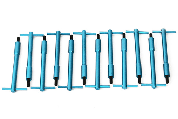 Valve Cover Blue Anodized Aluminum T Handle Bolts T-Bar 1/4-20