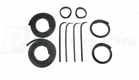 67-70 Ford Truck Door Gaskets & Beltline Molding Channel Weatherstrip Seal Kit