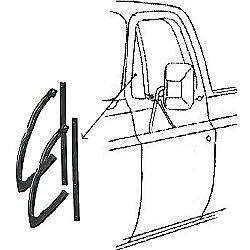 81-85 Chevy Truck Door Vent Window Glass Seals 4-PC Rubber Weatherstrip Kit