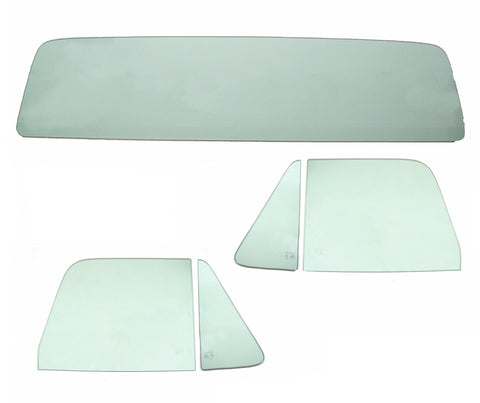 64-66 Chevy Truck 5PC Green Tinted Tempered Glass Kit
