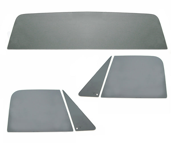 67-72 Chevy Truck 5PC Gray Tinted Tempered Glass Kit