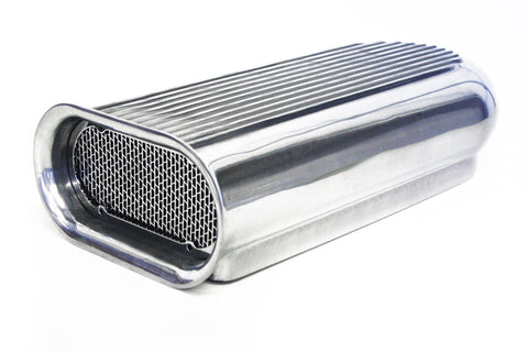 Polished Aluminum Hilborn Hood Scoop Dual 4 Barrel Blower Tunnel Ram