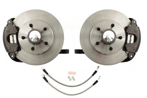 63-72 Chevy C10 Truck 5-Lug Conversion Front Disc Brake Kit Drop Spindles
