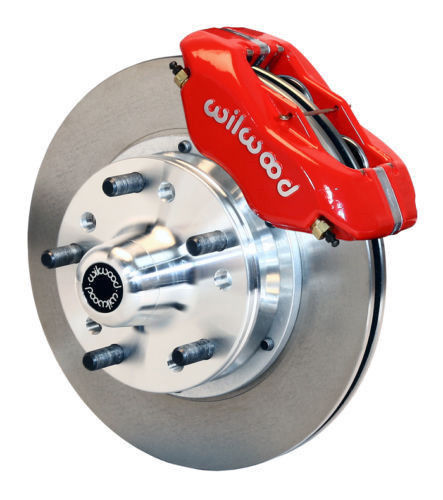 "Mustang II Wilwood Red Dynalite Pro Big 12.19"" Disk Brake Smooth Kit"