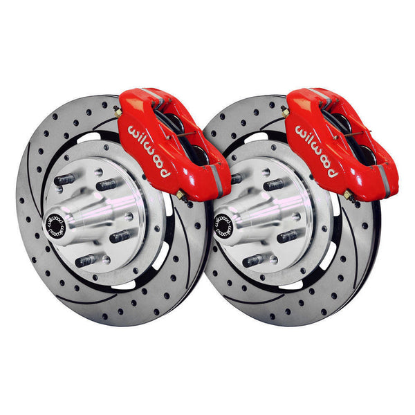 "55-57 Chevy Belair Wilwood Big 12"" Disk Brake Kit Drilled & Slotted"