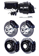 "Wilwood GM Disc Brake Kit 12.19"" Drilled & Slotted w/ Master Cylinder & Booster"