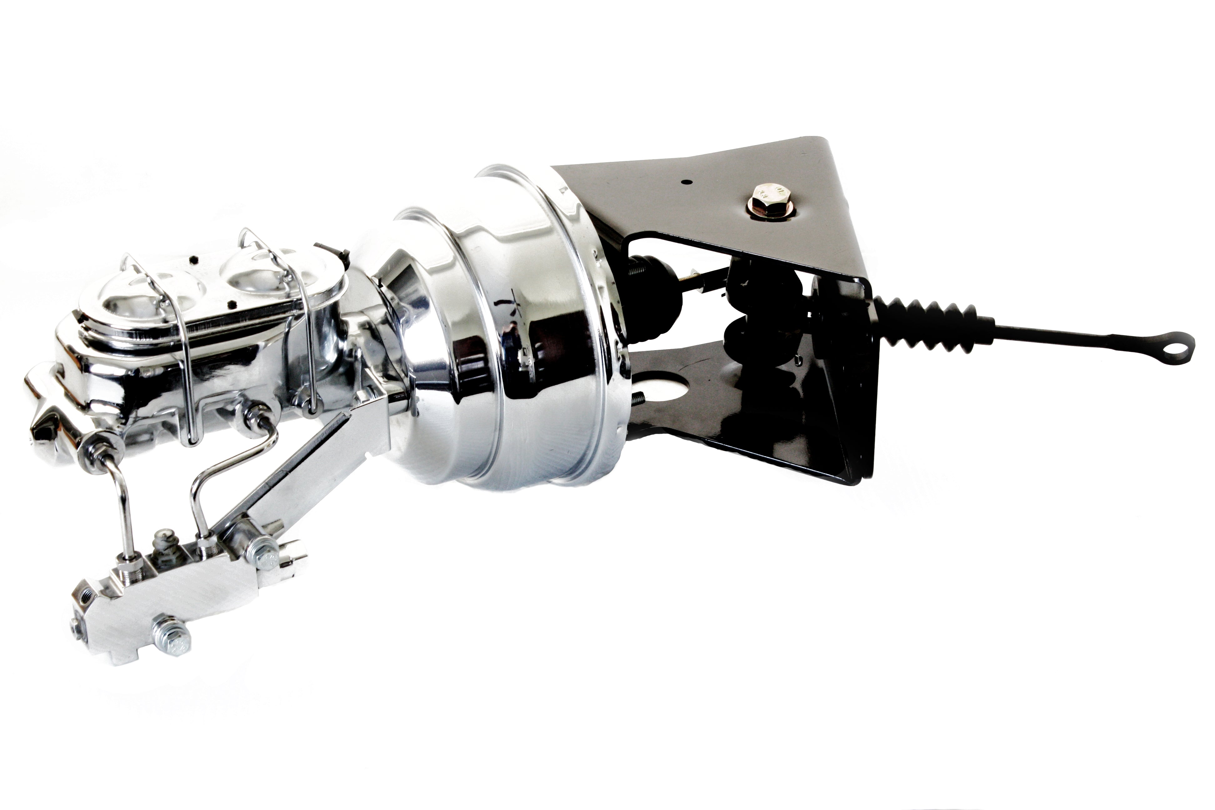 """Universal Firewall Mount 7/"""" Dual Chrome Booster with Ball Milled Master Cylinder"""