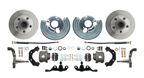 "Mopar A-Body Front 11"" Disc Brake Kit w/Spindles 5 x 4"" Wheels"