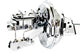 "67-72 Chevy Truck Chrome 11"" Booster with Master Cylinder & Proportioning Valve"