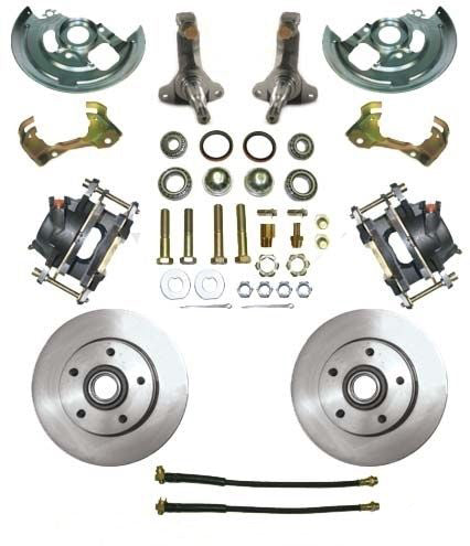 "62-67 Chevy II Nova MBM Front 11"" Disc Brake Conversion Kit with Stock Spindles"