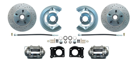 64-73 Ford Front Drilled & Slotted Disc Brake Conversion Kit