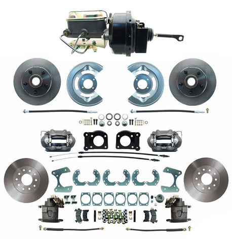 64-66 Ford Mustang Front & Rear Disc Brake Kit w/ M/C Booster & Prop Valve