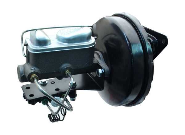 67-70 Ford Mustang Master Cylinder, Black Booster, Prop Valve w/ Automatic Pedal