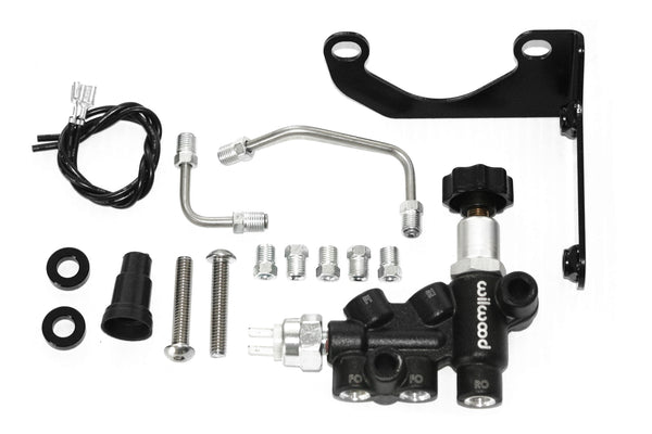 Wilwood Black Front & Rear Disc Brake Kit w/ Chrome Booster & Master Cylinder