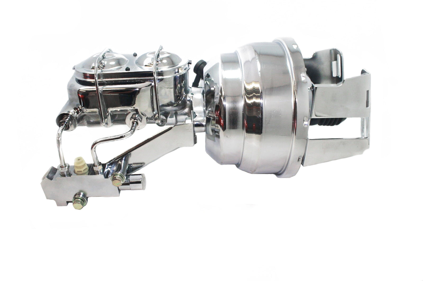 Universal 7 inch Dual Booster w Master w Disc Drum Proportioning Valve Kit