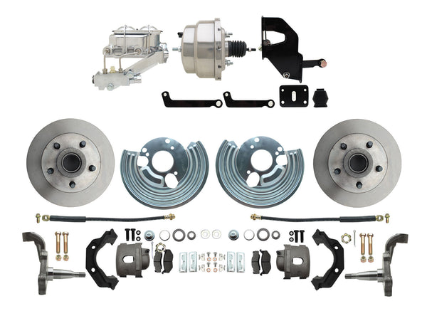 Mopar B & E-Body Complete Front Disc Brake Kit Chrome Booster Master Cylinder