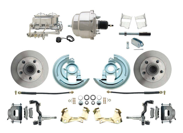 62-67 Chevy II Nova Disc Brake Conversion Kit Chrome Booster & Master Cylinder