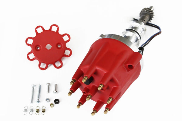 Red SBF 351W Pro Billet Distributor Mechanical Advance