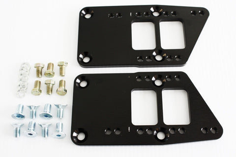 Black Chevy LS Billet Engine Conversion Motor Mount Adapter Plates Swap