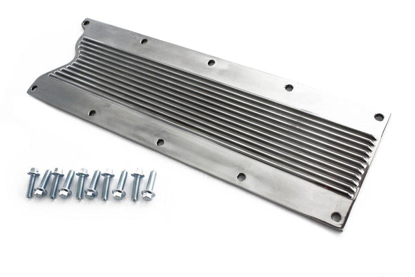 Finned Polished Aluminum Valley Cover w/ Bolts Knock Sensor Delete