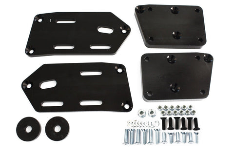 79-93 Mustang Black Adjustable Engine Swap Mounts LS Swap Fox Body Adapter Plate