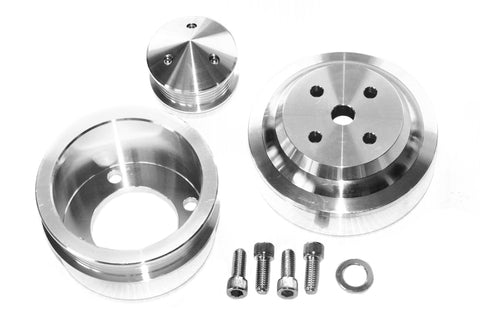 79-93 SBF 5.0 Mustang Polished Serpentine Underdrive Pulley Alternator Kit