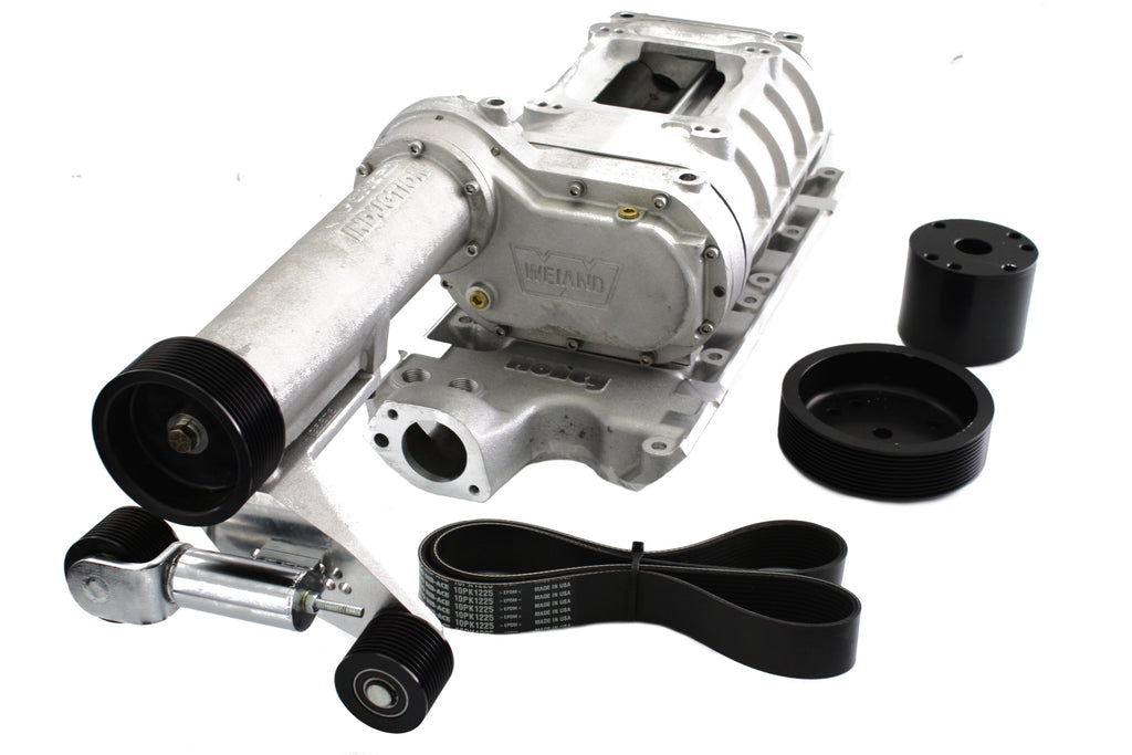 Sbf Weiand 174 Satin Powercharger Supercharger Ford 289
