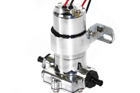 Universal Black Chrome Extreme Duty Electric High Volume Fuel Pump 9 PSI 140 GPH