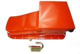 55-79 SBC 7QT Oil Pan W/ Pick-Up Orange Driver Side Dipstick
