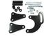 Chevy SBC Black Anodized Power Steering Long Water Pump Bracket