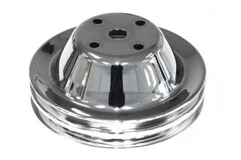 SBC Chrome Steel Double Groove Long Water Pump Pulley