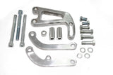 SBC Billet Polished Aluminum Power Steering Bracket Long Water Pump