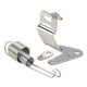 Chrome Throttle Cable Bracket w/ Dual Stainless Return Springs