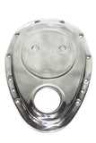 SBC Polished Aluminum Timing Chain / Gear Drive Cover Set