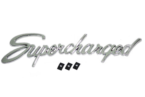 "Universal Chrome ""SUPERCHARGED"" Emblem / Script"