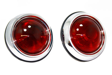 Universal Chrome Round Street Rod Tail Lights