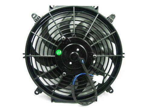 "12"" Curved Blade Reversible Electric Fan w/ Mount Kit"