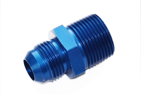 "Russell -8 AN Flare to 1/2"" NPT Straight Hose Adapter Fitting"