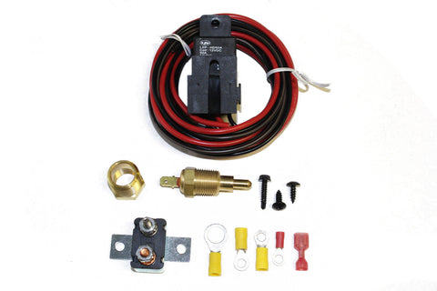 Heavy Duty Electric Fan Relay Kit w/ Thermostat Ford Chevy 170 Off / 180 On