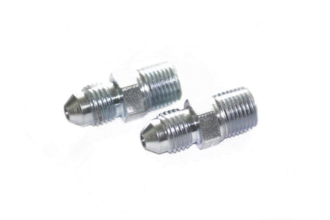 "(2) -3 to 1/8"" NPT Straight Steel Adapter Fitting"