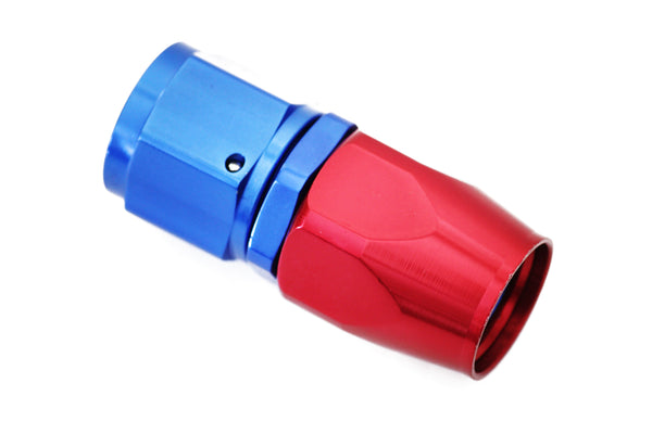 Blue/Red -8 AN Straight Swivel Hose End Fitting