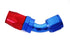 Blue/Red -12 AN 45 Degree Swivel Hose End Fitting
