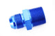 "Blue/Red -6 AN Flare to 3/8"" NPT Straight Hose Adapter Fitting"
