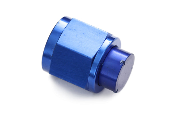Blue -8 AN Flare Cap Hose End Fitting