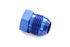Blue -8 AN Flare Plug Hose End Fitting Cap